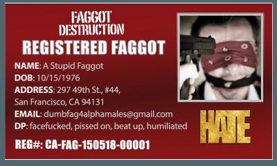 Faggot Card Template